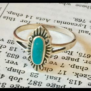 Sterling silver turquoise ring 925